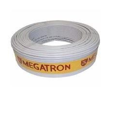 CABO COAXIAL RG 59 95% 100M BRANCO MEGATRON