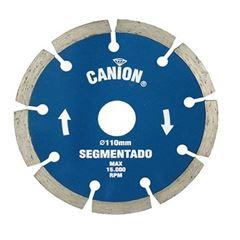 DISCO DIAMANTADO SEGMENTADO 110MMX8MM CANION RED DIAMOND