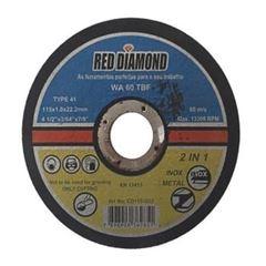DISCO CORTE PARA INOX 4.1/2 RED DIAMOND