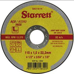 DISCO CORTE PARA INOX 4.1/2 STARRETT