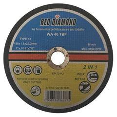 DISCO CORTE PARA INOX 7 RED DIAMOND