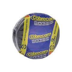 CABO FLEXIVEL 04.00MM PRETO COBRECOM COM 100MT