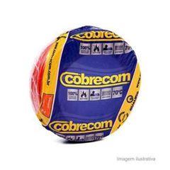 CABO FLEXIVEL 04.00MM VERMELHO COBRECOM COM 100MT
