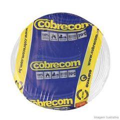 CABO FLEXIVEL 04.00MM BRANCO COBRECOM COM 100MT