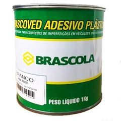MASSA PLASTICA BRANCO 1KG BRASCOLA