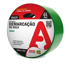 FITA DERMARCAÇÃO 50X30 VERDE ADERE