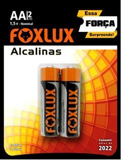 PILHA ALCALINA PEQUENA AA COM 2 FOXLUX