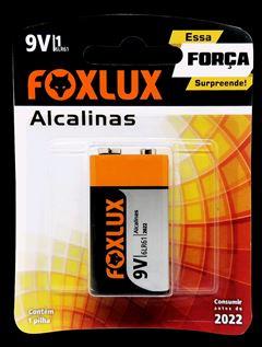 BATERIA ALCALINA 9V COM 1 FOXLUX