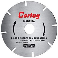 DISCO SERRA TUNGSTÊNIO PARA MADEIRA 4.1/2 CORTAG