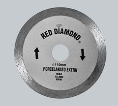 DISCO DIAMANTADO EXTRA 110MMX10MM PORCELANATO RED DIAMOND