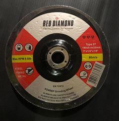 DISCO DESBASTE PARA FERRO 7  RED DIAMOND