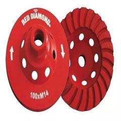 REBOLO DIAMANTADO PARA DESBASTE 110MM RED DIAMOND
