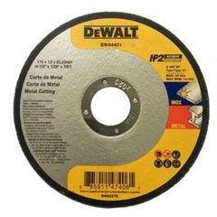 DISCO CORTE PARA INOX FERRO 4.1/2 HP2 DEWALT