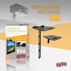 SUPORTE PARA DVD E RECEPTOR PRETO BRASFORMA