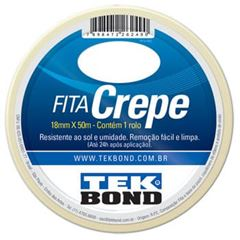 FITA CREPE 18MMX50M BRANCO TEKBOND