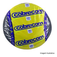 CABO RIGIDO 1KV 25.00MM PRETO HEPR COBRECOM COM 500MT
