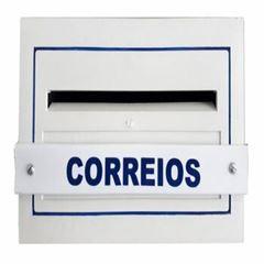 CAIXA DE CORREIO PVC PARA GRADE BRANCA TELHALUZ