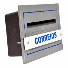 CAIXA DE CORREIO PVC PARA GRADE CINZA TELHALUZ
