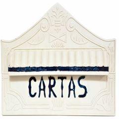 CAIXA DE CORREIO PVC REAL BRANCO JORNAL TELHALU