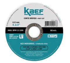 DISCO CORTE PARA INOX 4.1/2 KAEF