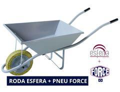 CARRO DE MÃO 60LT REFORÇADO G16 COM RODA FORCE ESFERA