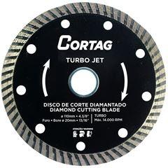 DISCO DIAMANTADO TURBO JET 110X20MM CORTAG