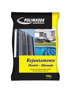 REJUNTE SILICONADO POLIMASSA PRETO 1,0KG